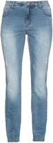 Studio Plus Size Straight cut jeans with destroyed effect