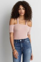 American Eagle Outfitters AE Soft & Sexy Ribbed Off-The-Shoulder T-Shirt