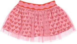 Stella McCartney Kids Heart Print Tulle Skirt