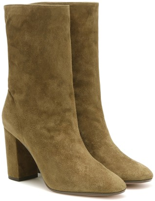 Aquazzura Boogie 85 suede ankle boots