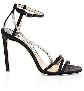 Jimmy Choo Women's Thaia Crystal Glitter Sandals