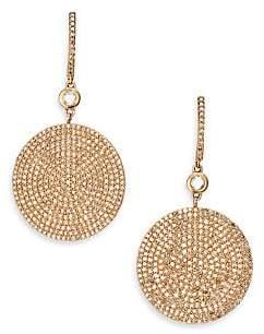 Astley Clarke Women's Icon Pavé Light Grey Diamond & 14K Rose Gold Drop Earrings