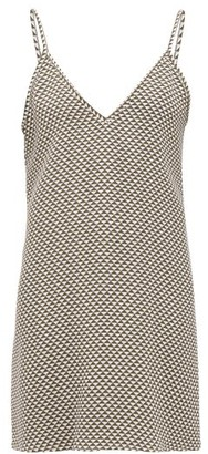 Giuliva Heritage Collection Pyramid-print Silk Slip Dress - Womens - Khaki