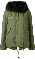 Mr & Mrs Italy - army mini parka - women - Cotton/Leather/Polyester/Racoon Fur - XXS
