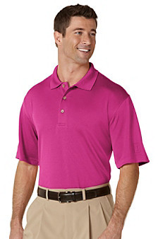 PGA Tour® Men's Short Sleeve Solid Mesh Polo