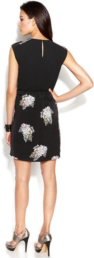 DKNY DKNYC Sleeveless Floral-Print Dress