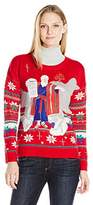 Blizzard Bay Women's Moses Naughty List Fair Isle Ugly Christmas Sweater
