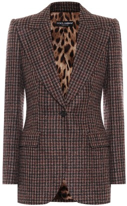 Dolce & Gabbana Tweed wool and alpaca-blend blazer