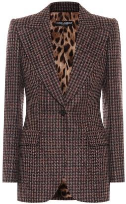 Dolce & Gabbana Tweed wool and alpaca-blend blazer