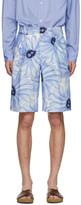 Jacquemus Blue Flower Le Short De Costume Shorts