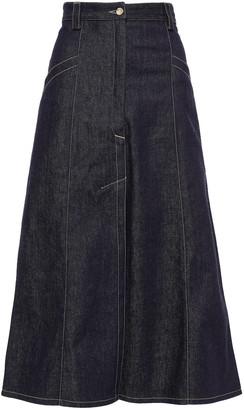 Nina Ricci Flared Denim Midi Skirt