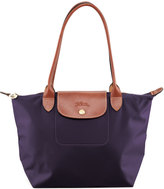 Longchamp Le Pliage Medium Monogramm Shoulder Tote Bag, Bilberry