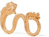 Valentino Rooster gold-plated three-finger ring