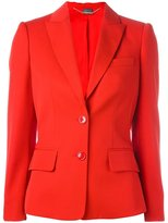 Alexander McQueen flared peplum blazer - women - Cupro/Virgin Wool - 40