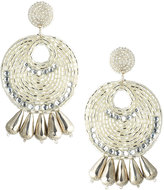 Kenneth Jay Lane Metallic Seedbead Statement Earrings