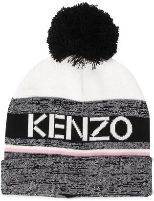 Kenzo Striped Bobble Hat