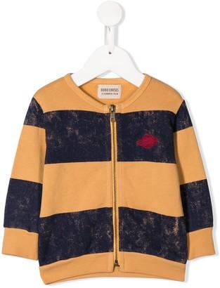 Bobo Choses Saturn striped zipped sweatshirt