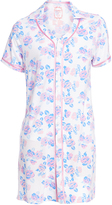 Hanes Ivory Floral Button-Up Sleep Shirt