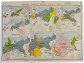 Rejuvenation Mid-Century Denoyer-Geppert Map Book of Early Germany c1957