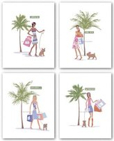 "McGaw Graphics Fashion Streets Set by Lowe 14""x11"" Art Print Poster"