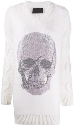 Philipp Plein Skull mini knitted dress