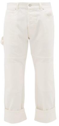 J.W.Anderson Knee-patch Straight-leg Cotton Jeans - Mens - Cream