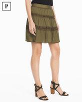 White House Black Market Petite Military Skirt
