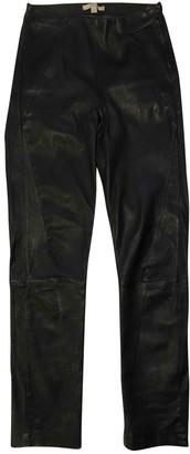 Dagmar Black Leather Trousers for Women