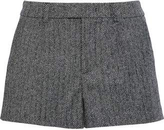 RED Valentino Herringbone Wool-blend Shorts