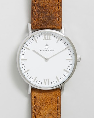 KAPTEN & SON Campina 36mm Leather Watch