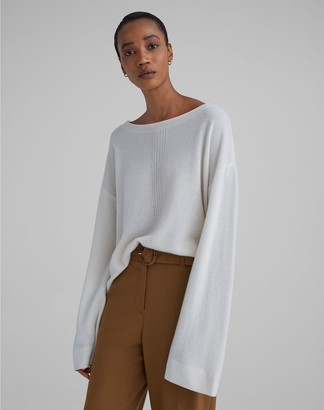 Club Monaco Cashmere Pointelle Knit Sweater