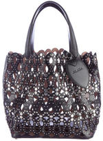 Alaia Laser Cut Studded Tote