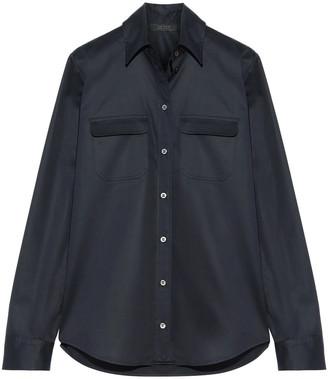 The Row Patrew Cotton-blend Satin Shirt