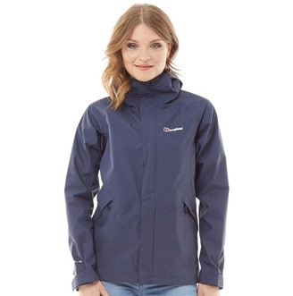 Berghaus Womens Alluvion 2 Layer Hydroshell Shell Jacket Dark Blue/Dark Blue