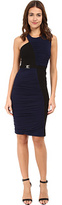 Versace Colorbock Rouched Jersey Dress Women's Dress