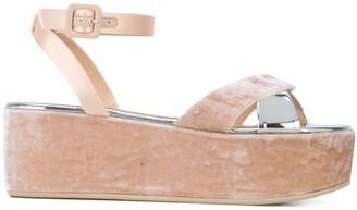 Giuseppe Zanotti Velvet Platform Sandals
