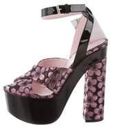 Giamba Jacquard Platform Sandals