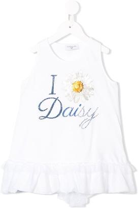 MonnaLisa Daisy Print Top