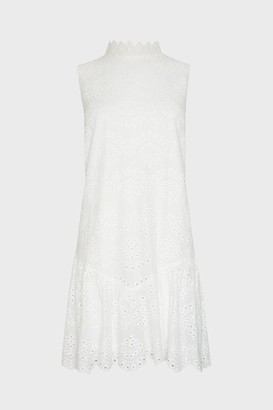 Coast Cotton Voile Embroidery Dress