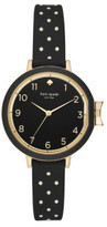 Kate Spade Park Row Silicone Black Watch