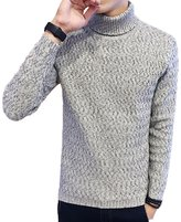 Meiruian Mens Winter Slim Warm Sweater Coat Turtleneck Knitwear Tops Jumper