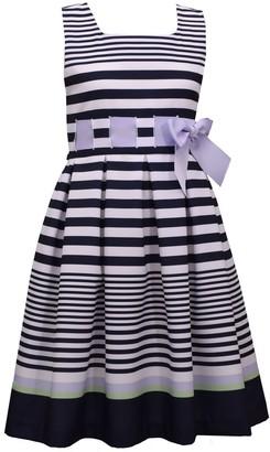 Bonnie Jean Girls 4-6x Striped Pleated Dress