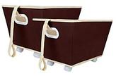 Delta 2-pk. Storage Bins on Wheels - Chocolate