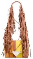 Sara Battaglia Striped Theresa Fringe Shoulder Bag