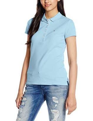 Tommy Hilfiger Women's New Chiara Str Pq Polo Ss Shirt,XX-Large