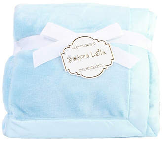 Fleece Baby 3Stories Solid Coral Blanket With Satin Border