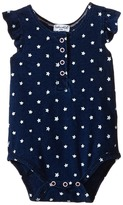 Splendid Littles Indigo Star Ruffle Sleeve Bodysuit Girl's Jumpsuit & Rompers One Piece