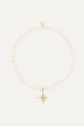 Sydney Evan Starburst 14-karat Gold, Pearl And Diamond Bracelet