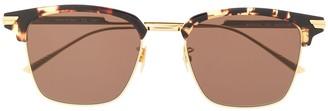 Bottega Veneta Half-Rim Square-Frame Sunglasses