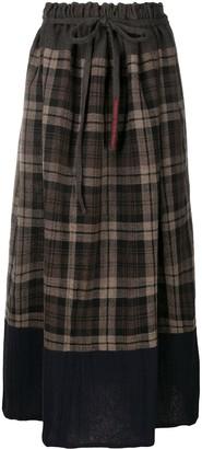 Daniela Gregis Plaid Check Drawstring Skirt